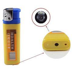 Camera inside a lighter Spy Video Camera, Spy Glasses, Intruder Alarm, Hidden Spy Camera, Nanny Cam, Cool Electronics, Ebay Shopping, New Gadgets, Gadget Gifts