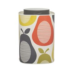 This stylish retro square shaped caddy with rounded edges will add a splash of colour to any kitchen and with a practical twist off top it allows you to keep the contents fresh.  Click on the link below to view or purchase the range on our website!  http://www.bluesuntree.co.uk/site/products/new-items/orla-kiely-tin-canister-pear  #OrlaKiely #OrlaKielyRange #Design #Different #BuyNow #FollowUs #Scandinavian #Colours #BlueSuntree