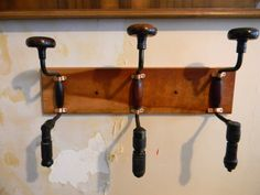 Repurposed Hand Drill Coat Rack...genius...I already have a couple!
