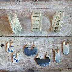 The loveliest ceramic jewelry just in from @martinathornhill #ceramiclove #littleboxespdx (at Demimonde Shop)