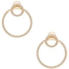 joolz by Martha Calvo Mini Circle Ear Jacket ($88) ❤ liked on Polyvore featuring jewelry, earrings, 14 karat gold jewelry, gold plated earrings, 14k gold plated jewelry, circle earrings and 14 karat gold earrings