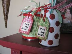 Cool idea for gift giving!  Would be neat to do when giving money or small items for gifts!  (Pop Top Cans | Blue Cricket Design)