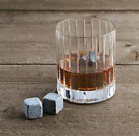 Restoration Hardware - reusable soapstone cubes keep your liquor perfectly chilled