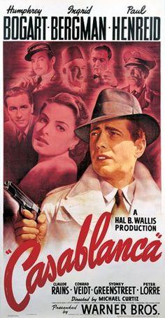 Casablanca (1942) Date: 7th June 2016 http://www.hollywoodreporter.com/gallery/bill-gold-s-memorable-movie-187230/1-casablanca-1942