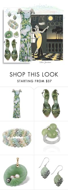 """Fly Me To The Moon"" by calicojunction ❤ liked on Polyvore featuring Dolce&Gabbana, Christian Dior, Honora, Glitzy Rocks, Palm Beach Jewelry and Lord & Taylor"
