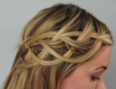 This waterfall braid is perfect for growing out your bangs with a ~twist.~