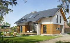 Z Widokiem - wizualizacja 1 - Projekt małego domu z antresolą bez garażu
