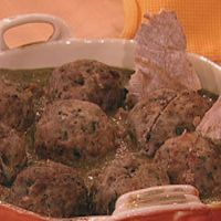 Caprese Stuffed Meatballs by RachaelRay