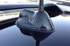 Carbon Fiber Antenna Base Overlay for MINI Cooper models R55 and R56.