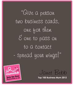 Words of wisdom from an award winning Business Woman.