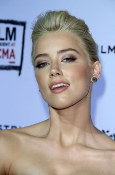 amber heard. love this makeup. soft but dramatic