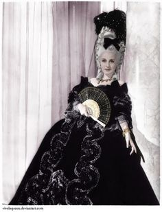 norma shearer in costume | Norma Shearer is Marie Antoinette ( MGM, 1938). Costume design by ...