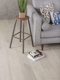 Flooring trends 2017 will continue to embrace white and grey. Love this flooring for a modern interiors look that is both simple and stylish