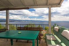 Flat w/sea view & covered patio - Opatija 4 Bedroom Apartments, Flagstone Patio, Outdoor Tables, Outdoor Decor, Outdoor Furniture, Country, Sea, Home Decor, Covered Patios