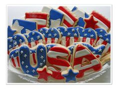 USA cookies - July 4th Platter - Barefoot n Baking
