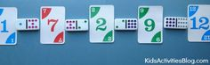 {Matching Game} Cool math games for kids with dominoes and a deck of cards