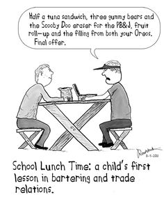 lunch negotiations cartoon