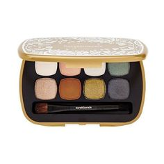 bareMinerals The Soft & The Smoky READY 8.0 Shadow Palette (£24) ❤ liked on Polyvore featuring beauty products, makeup, eye makeup, eyeshadow, mineral eyeshadow, palette eyeshadow, metallic eyeshadow, cream eye shadow en bare escentuals eye shadow