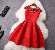 Sweet bow sleeveless vest dress VG10605NM