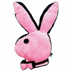 Playboy Bunny Head Pillow In Pink And Black - Beyond the Rack