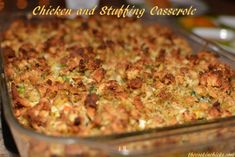 One of my family's most favorite casseroles in this Chicken and Stuffing Casserole. Because it is SO flavorful, simple to make, and most of the ingredients are ones that you would have on hand already. It is kid. Chicken Stuffing Casserole, Stuffing Recipes, Casserole Dishes, Casserole Recipes, Baked Chicken With Stuffing, Stuffing Mix, Corn Casserole, Chicken Flavors, Chicken Recipes