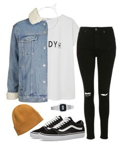 """Untitled #11"" by ijustwanttobe ❤ liked on Polyvore featuring MANGO, Topshop, Primrose, Casio, H&M and Vans"