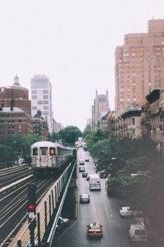 """L"" train in New York City, New York"