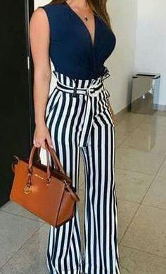 Style Spacez: 35 Cheap Palazzo Pants Outfit You Must Try Palazzo Pants Outfit, High Waisted Palazzo Pants, Pantalones Palazzo Casual, Casual Outfits, Cute Outfits, Fashion Outfits, Love Fashion, Cheap Fashion, Fashion Women