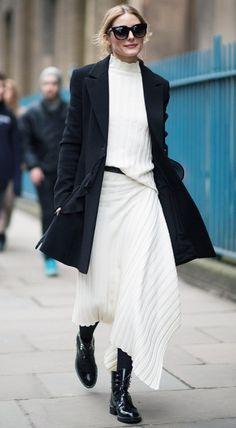 Pinterest: DEBORAHPRAHA ♥️ olivia palermo black and white outfit #oliviapalermo