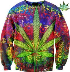 awesome neon cannabis sweater; or something of the like