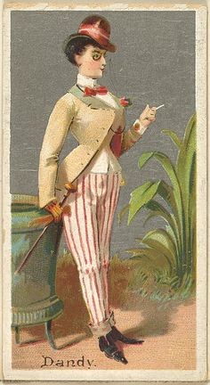 "The ""Occupations for Women"" series of trading cards was issued by Goodwin & Company in 1887 to promote Old Judge and Dogs Head Cigarettes. The Metropolitan Museum of Art owns all 50 cards in the series, as well as three duplicate cards Vintage Ephemera, Vintage Art, Graphics Vintage, Fancy Dress Ball, Tarot, Cigarette Brands, Gilded Age, Old Postcards, Vintage Advertisements"