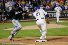 CrowdCam Hot Shot: New York Mets left fielder Lucas Duda catches for the final out on Miami Marlins pinch hitter Logan Morrison during the ninth inning at Citi Field. Mets won 4-3. Photo by Anthony Gruppuso