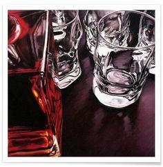 Whiskey Time als Premium Poster von Jérôme Romain | JUNIQE