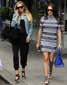 Stepping out in style: Tamara and Petra Ecclestone enjoyed lunch together at London's Scalini restaurant on Wednesday