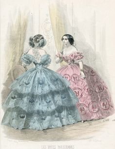 jailagracedunearchiduchesse:  Fashions of 1856