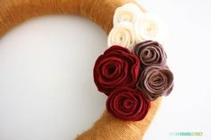 花の花輪を糸と感じた