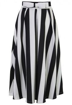 striped midi skirt.