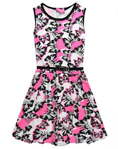Girls Skater Dress Kids Butterfly Party Dresses New Age 7 8 9 10 11 12 13 Years es.picclick.com