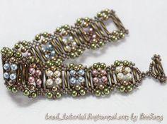 Free pattern: Demigod Crossweave Bracelet - Show off your celestial bead weaving powers with this pretty bracelet pattern.