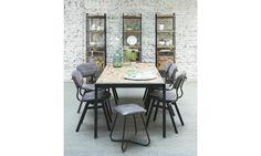 Missouri. Dit is een eetkamerstoel gemaakt van gerecycled leather in de kleur grijs, de stoel heeft een zwart frame. Tevens is de stoel ook leverbaar in zwart gerecycled leather.  http://www.winjewanje.nl/eetkamerstoel-missouri