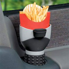 Oh look, your fries won't tip over in the car!