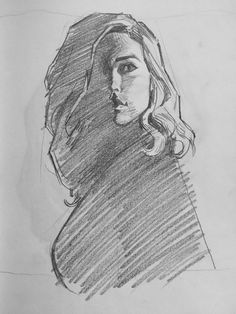Portrait Sketches, Art Drawings Sketches, Portrait Art, Easy Drawings, Pencil Drawings, Figure Sketching, Figure Drawing, Volume Art, Realistic Eye Drawing
