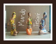 Lindas mulecas de céramica pintadas por Mimi