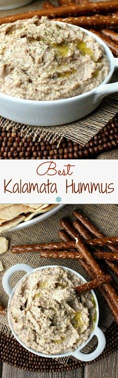 Best Kalamata Hummus is a boldly flavorful hummus that will be a fantastic addition to your recipe box. So easy too. Just combine and blend. Great with veggies, crackers and pita triangles.