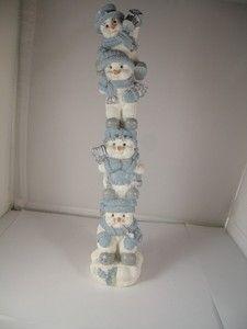 "Collectible Snow Buddies Totem Snowmen Pipe Lantern 9"" | eBay"