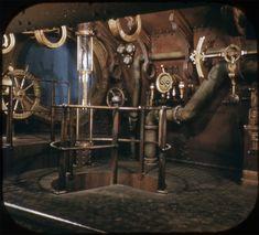 Disney and more: Rare 1955 Disneyland 20000 Leagues Under the Sea Exhibit View-Master Color Pictures Jules Verne, Steampunk Ship, Steampunk Design, Steampunk Artwork, Steampunk Theme, Art Nouveau, Art Deco, Zeppelin, Nautilus Submarine