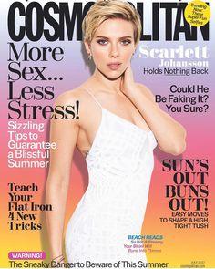 Scarlett Johansson nos dando essa verdadeira tempestade de beleza na capa da edição de julho da @cosmopolitan. DEUSA!