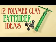 In this tutorial I discuss twelve things you can do with your polymer clay extruder and show you how to do some of them. Further Tutorial Links: Knitting – h. Polymer Clay Ring, Polymer Clay Tools, Sculpey Clay, Polymer Clay Animals, Polymer Clay Canes, Polymer Clay Miniatures, Polymer Clay Projects, Polymer Clay Creations, Clay Crafts