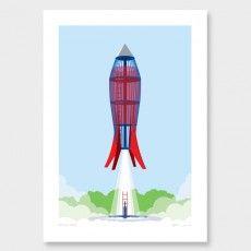 Rocket Park Art Print by Glenn Jones