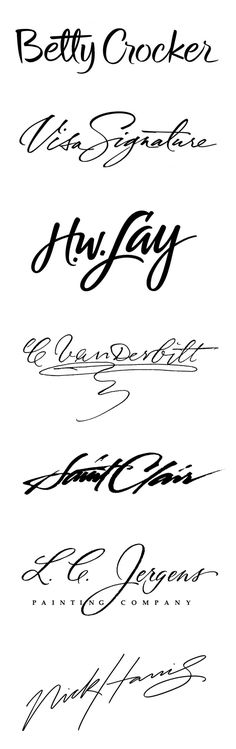 Hanwritten beauties... gorgeous signatures that will make you stare at for hours! lol ;)